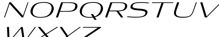 Condor Extended Light Italic Font UPPERCASE
