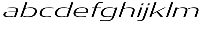 Condor Extended Light Italic Font LOWERCASE