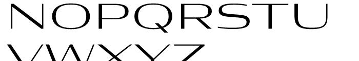 Condor Extended Light Font UPPERCASE