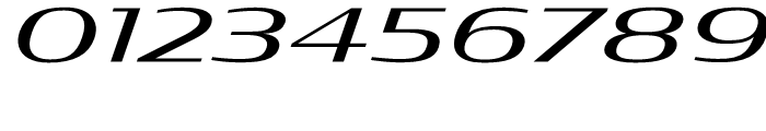 Condor Extended Regular Italic Font OTHER CHARS