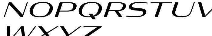 Condor Extended Regular Italic Font UPPERCASE