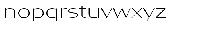 Condor Wide Extra Light Font LOWERCASE