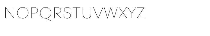 Contax 25 Ultra Light Sm Cap Font LOWERCASE