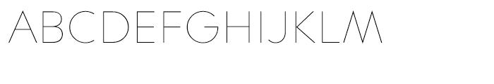 Contax 25 Ultra Light Font UPPERCASE