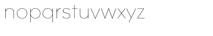 Contax 25 Ultra Light Font LOWERCASE