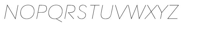 Contax 26 Ultra Light Italic Font UPPERCASE