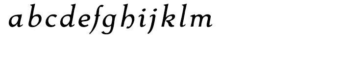 Contenu Italic Font LOWERCASE