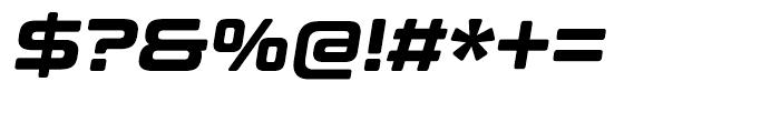 Controller Five Oblique Font OTHER CHARS