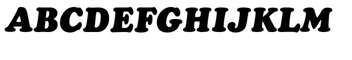 Cooper BT Black Italic Headline Font UPPERCASE