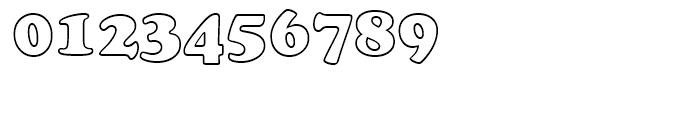 Cooper BT Black Outline Font OTHER CHARS