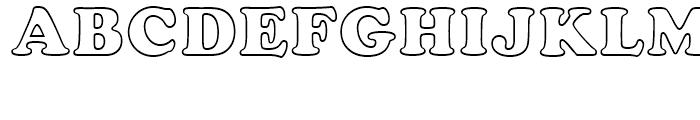 Cooper BT Black Outline Font UPPERCASE