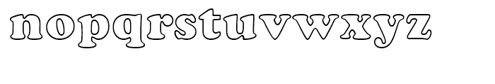 Cooper BT Black Outline Font LOWERCASE