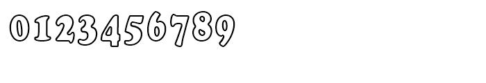 Cooper Black Outline Bold Condensed d Font OTHER CHARS