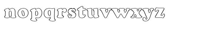 Cooper Black Outline Standard d Font LOWERCASE