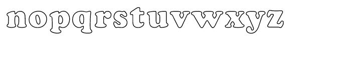 Cooper Black Outline Font LOWERCASE