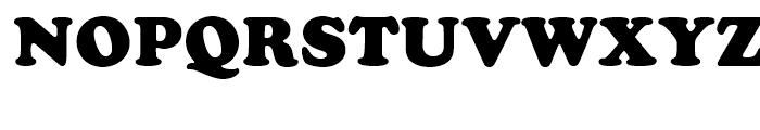 Cooper Black Standard D Font UPPERCASE
