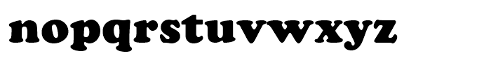 Cooper Black Standard D Font LOWERCASE