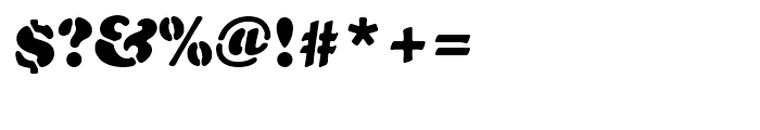 Cooper Black Stencil Standard d Font OTHER CHARS