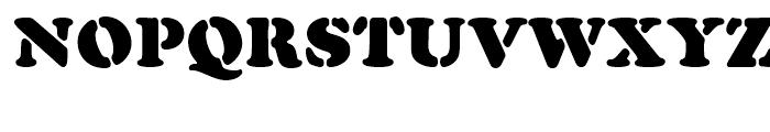 Cooper Black Stencil Standard d Font UPPERCASE