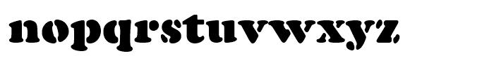 Cooper Black Stencil Standard d Font LOWERCASE
