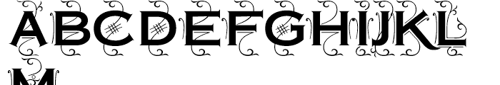 Copperplate Deco Plain Font UPPERCASE
