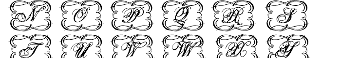 Copperplate Decorative Font UPPERCASE