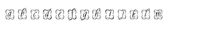 Copperplate Decorative Font LOWERCASE