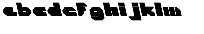 Cor Ten Closed Fat A Italic Font LOWERCASE
