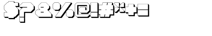 Cor Ten Closed Fat Extruded Font OTHER CHARS