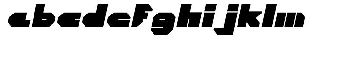 Cor Ten Closed Fat Italic Font LOWERCASE