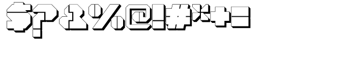 Cor Ten Open Fat Extruded Font OTHER CHARS