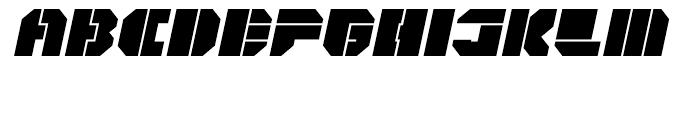 Cor Ten Open Fat Italic Font UPPERCASE