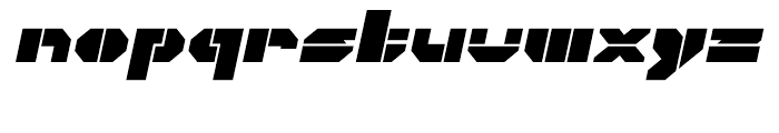 Cor Ten Open Fat Italic Font LOWERCASE