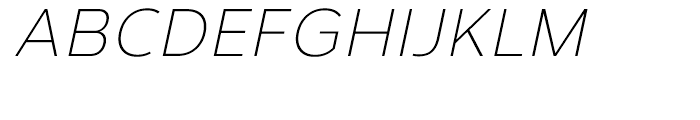 Corbert Light Italic Font UPPERCASE