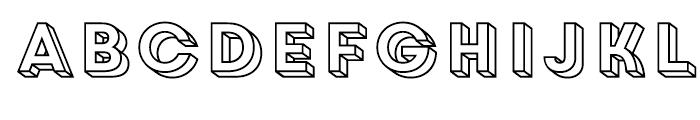 Core Circus 3D Frame Font LOWERCASE