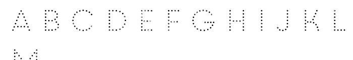 Core Circus Rough 2D Dot1 Font LOWERCASE