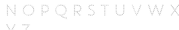 Core Circus Rough 2D Dot2 Font UPPERCASE