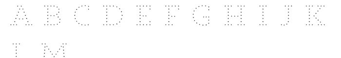 Core Magic 2D Dot3 Font UPPERCASE