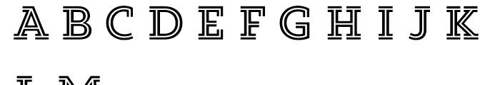Core Magic 2D Double Font UPPERCASE