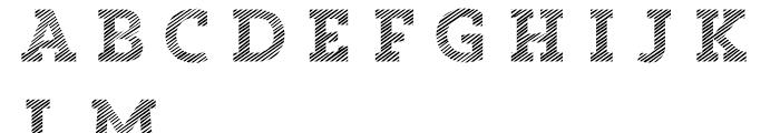 Core Magic 2D Line1 Font UPPERCASE