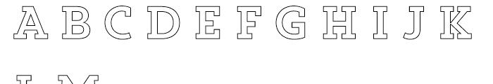 Core Magic 2D Out Font UPPERCASE