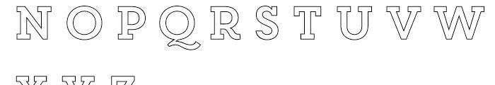 Core Magic 2D Out Font LOWERCASE