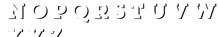 Core Magic 3D Down Font UPPERCASE