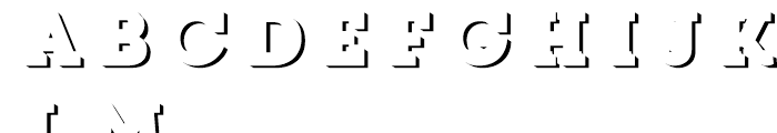 Core Magic 3D Down Font LOWERCASE