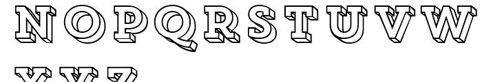 Core Magic 3D Frame Font UPPERCASE