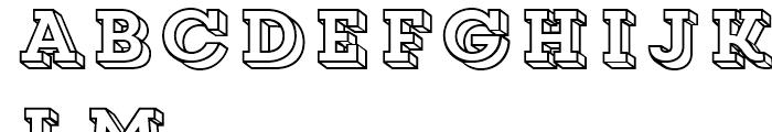 Core Magic 3D Frame Font LOWERCASE