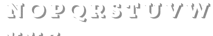 Core Magic 3D Line2 Font UPPERCASE