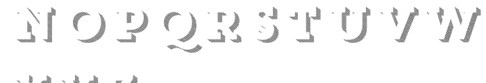Core Magic 3D Line2 Font LOWERCASE