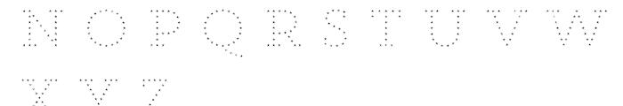 Core Magic Rough 2D Dot3 Font UPPERCASE