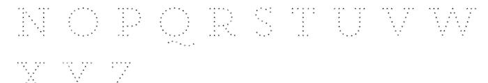 Core Magic Rough 2D Dot3 Font LOWERCASE